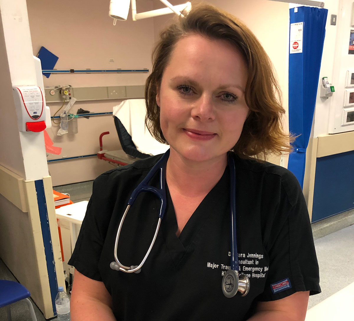 Emergency medicine consultant Cara Jennings, who has also won a free holiday with St Brides Bay Cottages as part of Operation Recuperation.